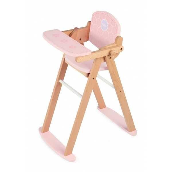 c4b386dad91b Tidlo Drevená stolička na kŕmenie bábík