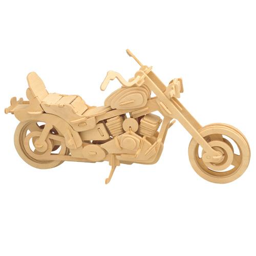 Woodcraft Drevené 3D puzzle Motorka Harley-Davidson I