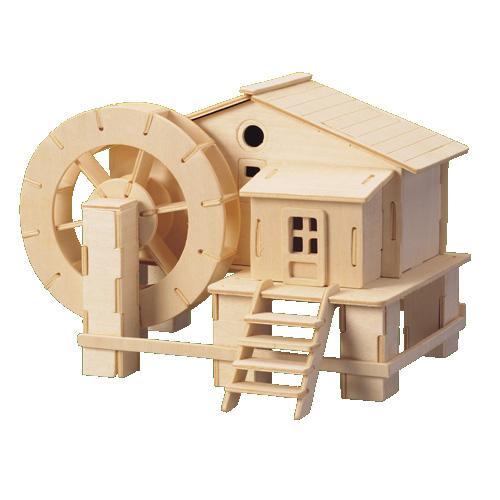 Woodcraft Drevené 3D puzzle Vodný mlyn