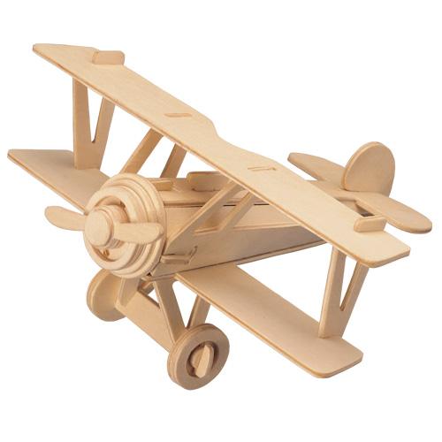 Woodcraft Drevené 3D puzzle Lietadlo Dvojplošník