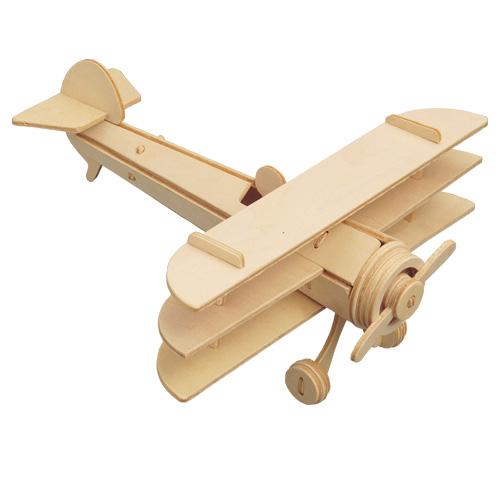 Woodcraft Drevené 3D puzzle Lietadlo Trojplošník
