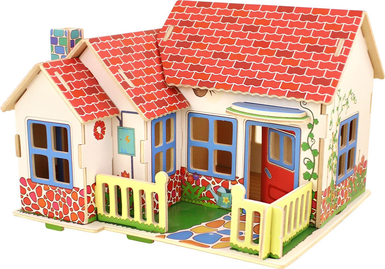 Drevené 3D puzzle skladačky Robotime Grace domček pre bábiky