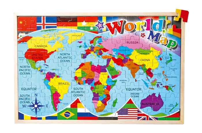Small Foot Puzzle Mapa sveta