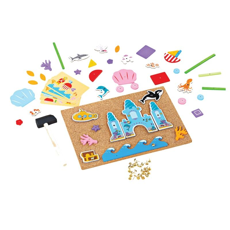 Bigjigs Toys Kreatívna zatĺkacia hra Život v mori