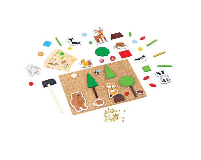 Bigjigs Toys Kreatívna zatĺkacia hra Život v lese