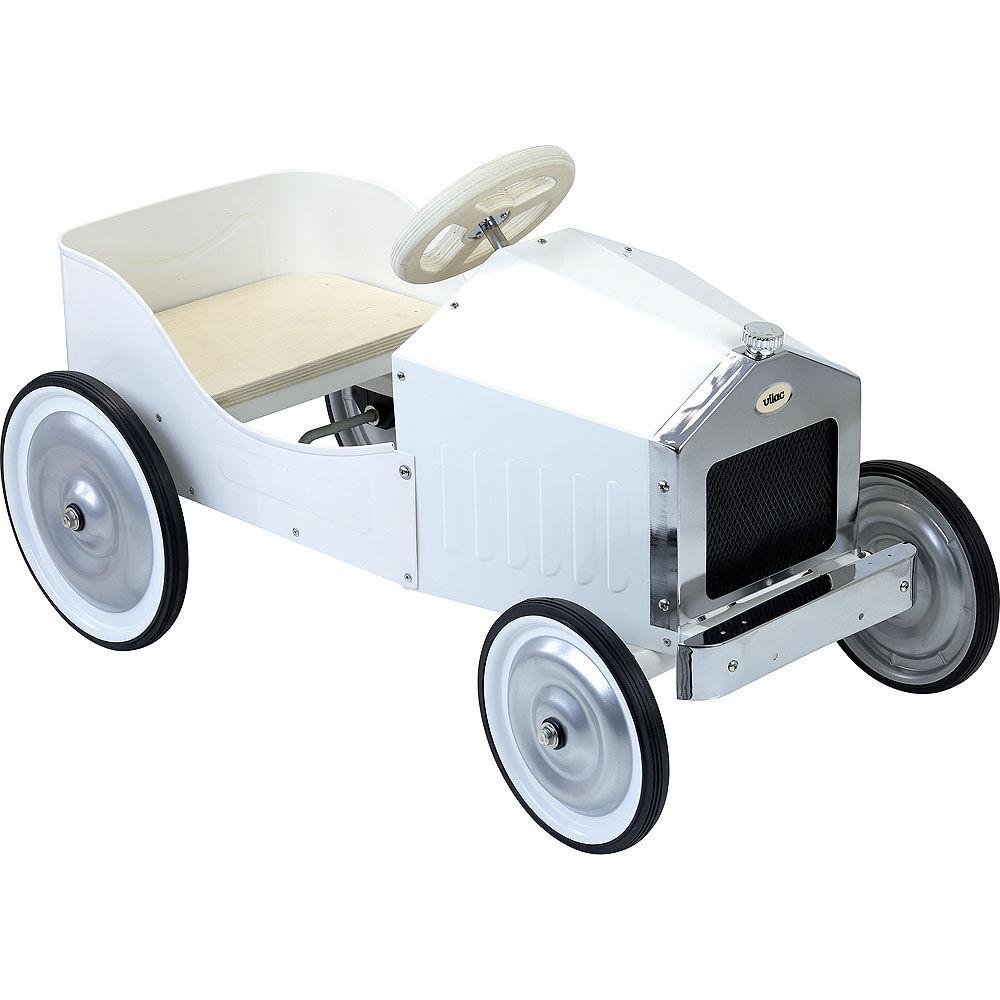 Vilac Kovové šľapacie auto biele