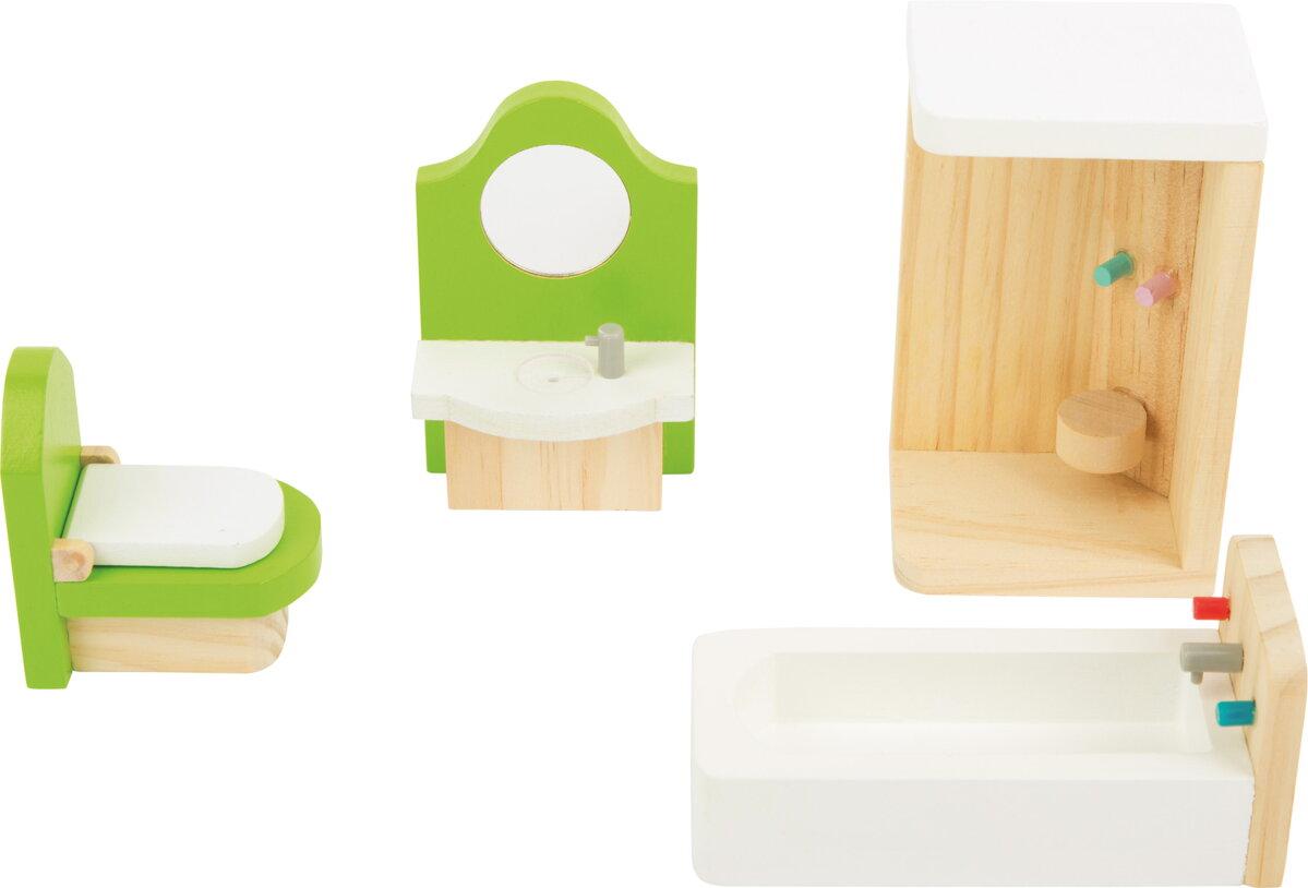 e6f173e32b2c2 Small Foot Drevený Nábytok pre bábiky - Kúpeľňa