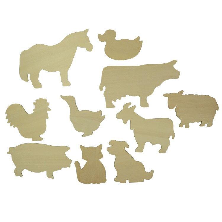 Bigjigs toys Drevené obkresľovacie vzory - Obrázky domácich zvierat a13235f165e
