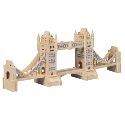 Woodcraft Drevené 3D puzzle Tower Bridge P055
