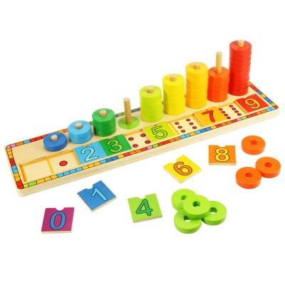 4e2b603b3 Bigjigs Toys Doska nasadzovanie s číslami