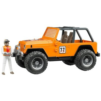 Bruder 2542 Jeep Cross Country s pretekárom
