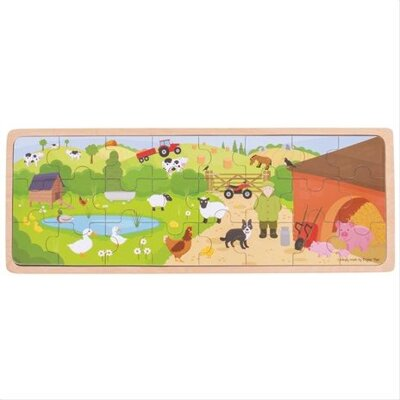 Bigjigs Toys puzzle - Na farme 24ks