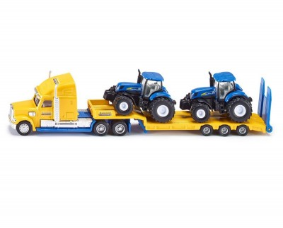 SIKU Super - Ťahač s vlekom a 2 traktormi New Holland 1:87