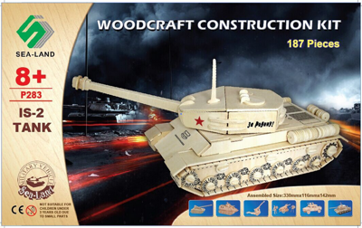 Woodcraft Drevené 3D puzzle Tank IS-2 P283