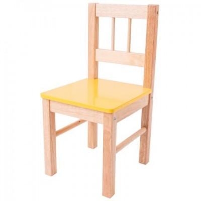 860b307d949b Bigjigs Toys detská drevená stolička - žltá