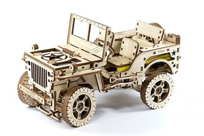 Wooden City 3D mechanické puzzle - Jeep 4x4 569 ks