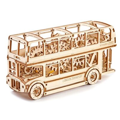 Wooden City 3D mechanické puzzle - Londýnsky bus Double Decker 216 ks