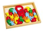 Small Foot Vkladacie puzzle ABC chobotnica