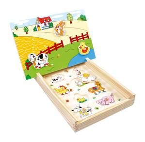Small Foot Magnetické puzzle Farma