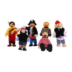 Bigjigs Toys bábiky - Set piráti 6ks