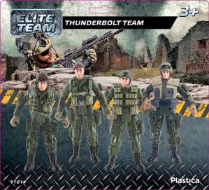 Plastica Elite Team vojaci Thunderbolt Team